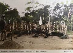 Aboriginal's Grave, Bardoc - circa 1900 (Aussie~mobs) Tags: westernaustralia vintage 1900 hockingco grave aborigine tribal bardoc kalgoorlie tinted postcard aussiemobs