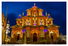 Church of St Nicholas, Siġġiewi (Tony Sammut) Tags: longexposure decorations church canon lights flickr village malta thelook autofocus siggiewi bulbmode canonef24105mmf4lisusm beautifulcapture vivalavida villagefeast simplysuperb canoneos550d blinkagain flickrclickx