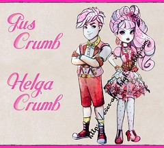 Helga and Gus Crumb (Fashion-Zambara) Tags: wood white apple beauty way hearts rebel spring high swan cheshire royal kitty lizzie holly queen sparrow cedar hood after humphrey helga cupid charming dumpty blondie gus too madeline wonderland raven ever hopper briar cerise crumb hatter daring duchess ohair lockes unsprung croakington thronecoming