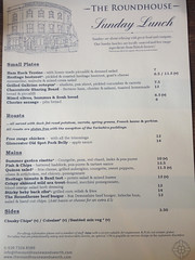 IMG_2825b_Roundhouse Sunday lunch menu (LardButty) Tags: london menu pub wandsworth claphamjunction roundhouse sundayroast sundaylunch publunch wandsworthcommon spencerpark sw18 theroundhouse sundaylunchmenu roundhousepub wandsworthborough lardbutty lardbuttylondon 2northside sw182ss