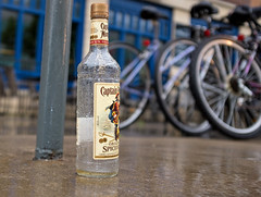 Morning on Iowa Ave. (Adamson Studios) Tags: rain downtown liquor rum iowacity captainmorgan iowaavenue