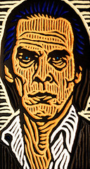 nick cave (Lisa Brawn) Tags: wood portrait calgary art illustration painting design graphics artist folkart canadian carving popart alberta woodcut woodcarving woodblock brawn reclaimed salvaged upcycled lisabrawn