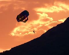 PARASAILING INTO THE SUNSET ~ OLU DENIZ (Jackie Folds) Tags: olu deniz turkey beach sunset mountains parasailing panasonic lumix fz72 zoom paragliders oludeniz 1000views 40faves 2000views