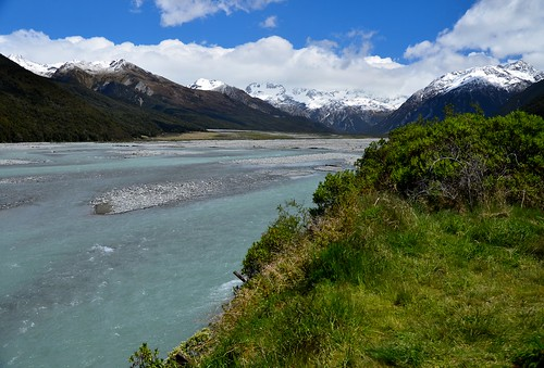 Waimakariri River, South Island, New Zealand.