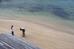 Bay and Sand (Bisher Photos) Tags: street kids sand play sydney spit middle hardbour