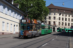 483 (KennyKanal) Tags: tram basel ag grn schindler waggon bvb pratteln basler cornichon verkehrsbetriebe schienenfahrzeug drmmli