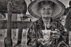 Granita with lemon and mint (L▲iv ©) Tags: park woman nikon buddha historical thailandia ayutthaya 2015 laivphoto