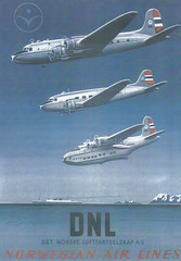 1st airline poster from trip to Sweden July 2015 (Proplinerman) Tags: airplane aircraft aeroplane sandringham shorts douglas dc3 airliner dnl dc4 propliner norwegianairlines shortsandringham