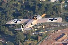 Fokker E.III Eindecker (CanvasWings) Tags: history vintage airplane aircraft aeroplane ww1 warbird ycab worldwar1 fokker eiii rotaryengine tavas caboolture eindecker fokkereiii wingwarp