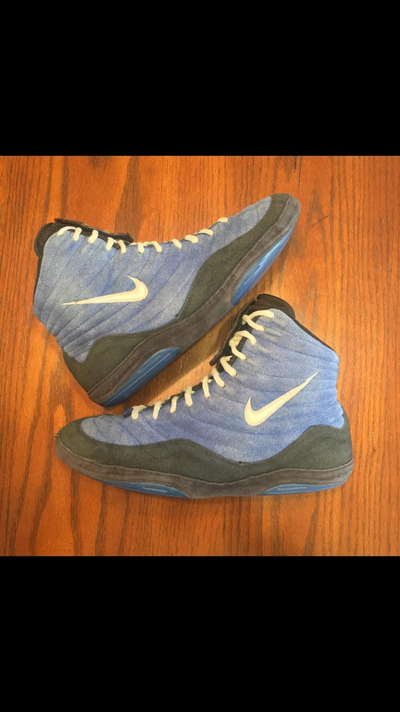 ... inflicts nikeinflicts nikeinflict wrestlingshoes. Blue reissues size 9.5  NOT FOR SALE (baranlechner) Tags: reissues nike ogs inflicts
