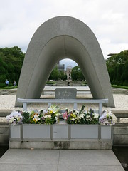 Memorial Cenotaph in Hiroshima (dungodung) Tags: japan nippon nihon nihonkoku 日本 日本国 hiroshima 広島市 hiroshimashi hiroshimapeacememorialpark peacememorialpark memorialpark peace memorial cenotaph memorialcenotaph