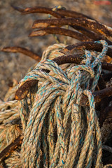 Ropes and Anchors 2, Hastings Beach (Peter Cook UK) Tags: hastings beach fishing anchor sussex rope