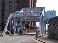 Lifting bridge (SteveInLeighton's Photos) Tags: may 2013 bridge england liverpool merseyside liftbridge