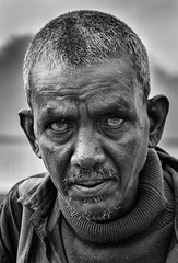 scary eyes (mailmesanu20111) Tags: portrait human people face blackandwhitephotography detail nikon scaryeyes monochrome kolkata india indian