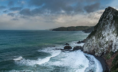 Looking South from Nugget Point (II) (deltics) Tags: coastal scenery southisland hdr panorama newzealand nz nuggetpoint ahuririflat otago