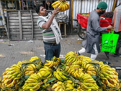 Street Shopkeeper-1146 (Rajjib's Photo) Tags: action color street people leaf city bangladesh road beautiful dhaka photography life yellow lifestyle shopkeeper fruit places banana