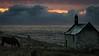 By night (Jean-Luc Peluchon) Tags: fz1000 panasonic lumix celtic breizh manche atlantique mystery mystical night beach bzh cross cloud sunset sunrise sky sea ocean church chapel