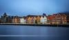 Bryggen at Blue hour (Lud0fr) Tags: blue city architecture longexposure sony enjoy amazing light night landscape water norway bergen bryggen famous unesco