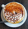Cappuccino, Rubens Cafe, Mold, UK (Ross_Harding) Tags: cappuccino coffee latte art uk wales mold flinshire winter 2017 samsung s6 young youth brown chocolate