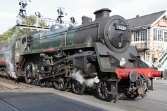 17656 NYMR 75029 The Green Knight Grosmont stn yorkshire england (melbettsimages) Tags: uk unitedkingdom manchester england freighttrain freight 75029 thegreenknight nymr grosmont grosmontstation yorkshire steam steamtrain