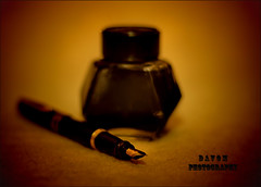 "Pen and Ink (""DavidJHiom"") Tags: simplysuperb pen ink fountainpen still life tabletopphotography watermans saarlysqualitypictures magical moments magicalmoments"