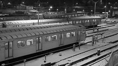 Toronto Winter Storm Feb. 08 058crpsh (citatus) Tags: rail yard subway cars station davisville toronto canada snow winter storm february 2008 sony dsch2 railyard