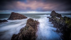 Tamed Waves (Augmented Reality Images (Getty Contributor)) Tags: canon cliffs clouds coastline landscape leefilters longexposure morayshire portknockie rocks scotland seascape sunset water waves