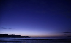 Nightscape at the beach (Merrillie) Tags: uminabeach sand sunrise nature australia mountains nswcentralcoast newsouthwales sea longexposure nsw stars beach water centralcoastnsw umina night photography seascape oceanbeach waterscape nighttime landscape sky outdoors