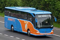 Bennett, Gloucester - BU13 ZVC (peco59) Tags: mercedes mercedesbenz psv pcv tourismo bennettscoaches bennettgloucester bu13zvc