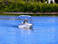 Boater-Sony HX20 (Preskon) Tags: nature water person boat bushes redingtonshoresfl