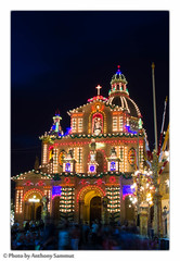 Church of St Nicholas, Siġġiewi 2 (Tony Sammut) Tags: longexposure decorations church canon lights flickr village malta thelook autofocus siggiewi bulbmode canonef24105mmf4lisusm beautifulcapture vivalavida villagefeast simplysuperb canoneos550d blinkagain flickrclickx