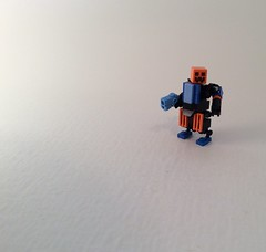 PumpkinTron (Ezrabrick) Tags: blue halloween pumpkin gun lego hard suit medium mega hoplite hardsuit brickforge mindcraft minecraft