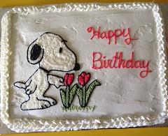 Snoopy cake by Christine, Linn County, IA, www.birthdaycakes4free.com