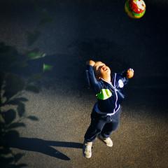 As High As He Could (Arthur Koek) Tags: boy ball kid jumping child thenetherlands harderwijk veluwe throwing gelderland