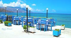 Kissamos Promenade (Hylos) Tags: ocean blue food boulevard cyan kreta diner greece crete promenade kissamos