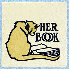 Her Book (sjrankin) Tags: cat book edited her historic blank bookplate exlibris 4july2015