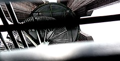 Spiral-Stairway-to-Heaven--series-CSHL-landscape--DSC05004 (mbgmbg) Tags: sculpture newyork architecture unitedstates staircase series syosset highconstrast cshl kw2flickr kwgooglewebalbum takenbymarkgerstein kwpotppt kwphotostream5 seriesmorepicsofcshl spiralstairwaytoheavenseriescshllandscape