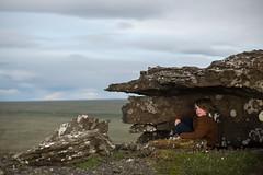Glói (Dalla*) Tags: boy summer color wool landscape lava iceland kid high hiking top hike fell þingvellir pullover icelandic miðfell wwwdallais