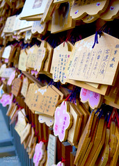 Ema (絵馬) (Grace T. :D) Tags: japan tokyo wooden shrine wishes wish shinto ema jinja wishing yasukuni plaques