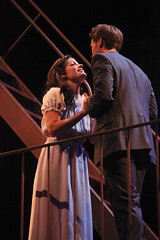 Carolann M. Sanita as Maria and Justin Matthew Sargent as Tony in West Side Story, produced by Music Circus at the Wells Fargo Pavilion August 4-9, 2015. Photo by Charr Crail.