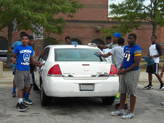 Blue Machine Car Wash 10 (AHummons Photography) Tags: blue school people chicago man black male men sports public car work football high community image secret young machine teenagers august wash together africanamerican lives positive athlete fundraiser simeon mentor teenage teammates 2015 structured aprilhummonsphotography