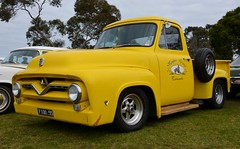 Ford F100 (quarterdeck888) Tags: ford yellow rock nikon flickr transport f100 frosty rockabilly trucks oldskool freight carshow hotrods sandown ratrod tractortrailer movingpictures quarterdeck greazefest movingvehicles d7100 fordute australiantrucks ftrucks oldutes jerilderietruckphotos jerilderietrucks outbacktrucks greazefestmelbourne greazefest2015 greazefestsandown