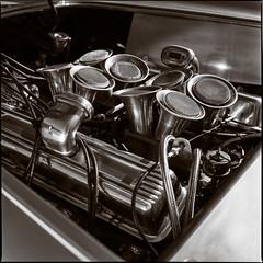 289 Throttle Bodies (Wet Possum) Tags: 80mm carsandcoffee epsonscan film hasselblad ilford ilfordfp4 ilfordddx mediumformat scan v700