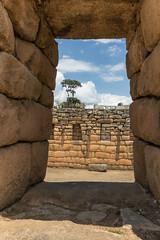 Machu Picchu enframed (fabioresti) Tags: machupicchu perù 2016 canoneos80d wideangle 1018 grandangolo incas wall ruins travel daylight