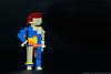 21. 1973 - Ziggy Stardust (Blue Flame Unitard) (Brickwright) Tags: bowie lego miniland minilanders david ziggy stardust