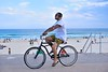 Bondi cruiser (jeremyhughes) Tags: bicycle bike cruiser bondi bondibeach cycling cyclist riding shorts cruising flipflops thongs tattoos tattooed sleeve shades headphones cool style beach seaside holiday sunshine ocean australia nikon d750 nikkor nikkor2470mmf28ged outdoor