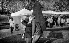 Bowes Museum , Christmas Market 2016 . (wayman2011) Tags: fujifilmxt10 lightroom wayman2011 bwlandscapes mono markets people candid street pennines dales teesdale barnardcastle countydurham uk