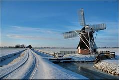 Het Witte Lam (TeunisHaveman) Tags: groningslandschap landscape landschap mills molens winter20102011 zuidwolde panoramio501850444565262 wittelam winter poldermolen polder boerenlaan sneeuw ijs
