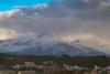Rain, snow, mix (Dominic Sagar) Tags: fujifilm japan t050 t100 t200 xt1 castle city moutain snow weather akitashi akitaken jp