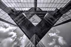 Rectangles and Triangles (Joseph Pearson Images) Tags: building architecture abstract london blackandwhite mono bw patterns geometric